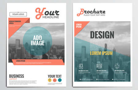 Brochure Design Template. Geometric shapes, Abstract Modern Backgrounds, Infographic Concept. Flat design.