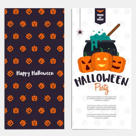 illustration invitation: Hallowen template. Scary party invitation with Halloween motives.  Illustration