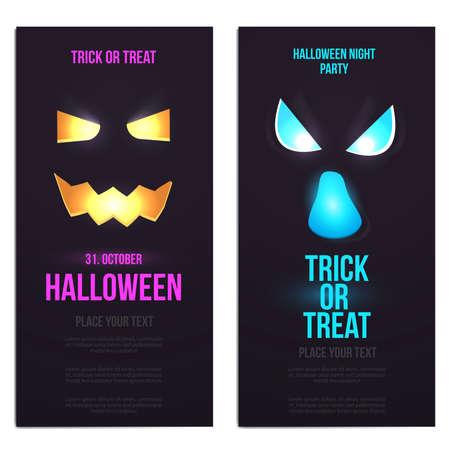 hallowen: Hallowen template. Scary party invitation with Halloween motives. Illustration Illustration
