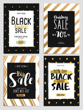 winter tree: Set of Chritmas Sale Template for websites and mobile websites. Can be used For Posters, Web Banners, promotion materials. Illustration Illustration