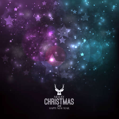 christmas backgrounds: Abstract Winter Christmas background. Can be used as holiday greeting cards. Vector Illustration