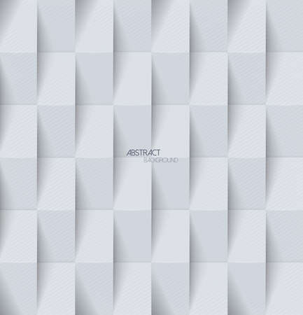 Abstract 3d gray geometric background with shadows. Simple clean Light gray background texture
