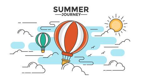 Moderne flache dünne Linie Design Held Bild, Konzept der Reise, Reise und Reise in andere Länder, einfach zu bedienen und sehr anpassbar. Moderne Vektor-Illustration-Konzept, isoliert auf weißem Hintergrund.
