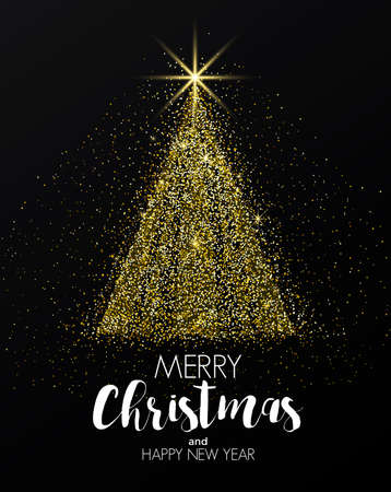 메리 크리스마스와 행복 한 새 해 인사말 카드입니다.