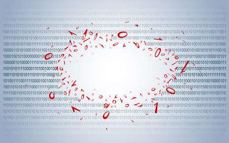 Breakthrough into binary code. Background