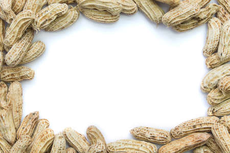 goober: Boiled peanuts frame isolated on white background