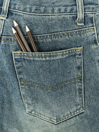 jeans pocket: Pencils in jeans pocket
