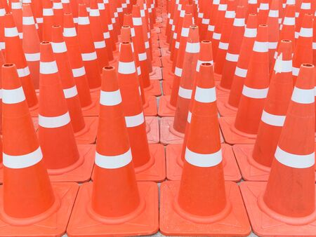 traffic   cones: Many traffic cones Stock Photo