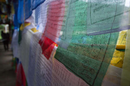 bhutan: Prayer flags in Thimphu Bhutan