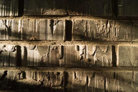 paredes de ladrillos: ladrillo iluminada por la luz del sol