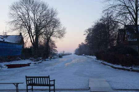 plassen: Ice at the Nieuwkoopse plassen