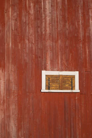 shanty: close up of a red barn
