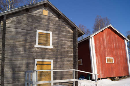 barrack: two old barns in Lapland