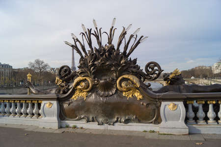 neva: Nymphs of the Neva on Pont Alexandre III in Paris