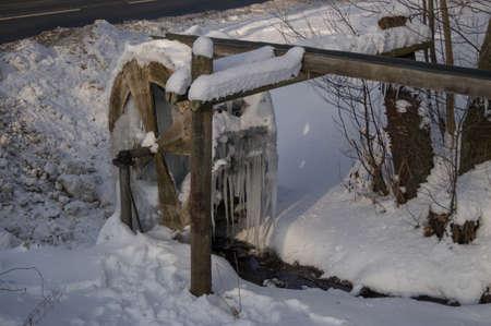 A water mill frozen stuck in Germany