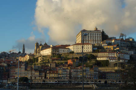 streetlife: View of Ribeira and Porto Cathedral at sundown
