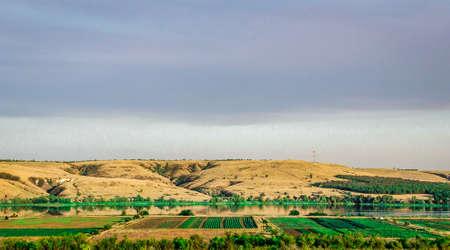 landscape field mountain expanse