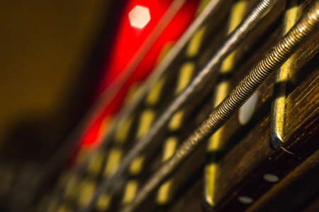 guitar strings close-up electric bass guitar musical instrument