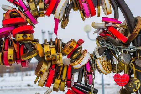 a lot of rust locks heart lock winter