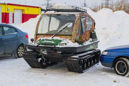 ATV to snow machine for winter snow sports Imagens