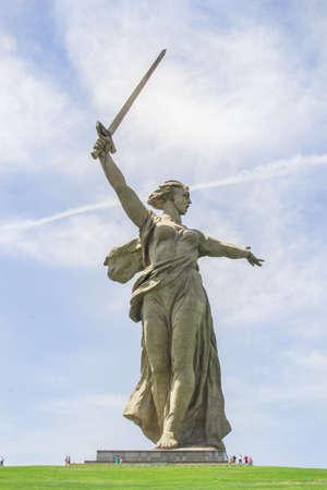VOLGOGRAD, RUSSIA, 23 may, 2018 statue of mother Motherland Volgograd Mamaev Kurgan Stock fotó - 117150833