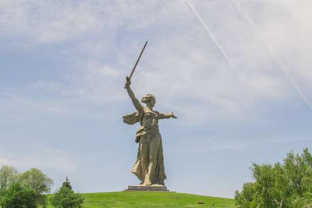 VOLGOGRAD, RUSSIA, 23 may, 2018 statue of mother Motherland Volgograd Mamaev Kurgan Stock fotó - 117150834