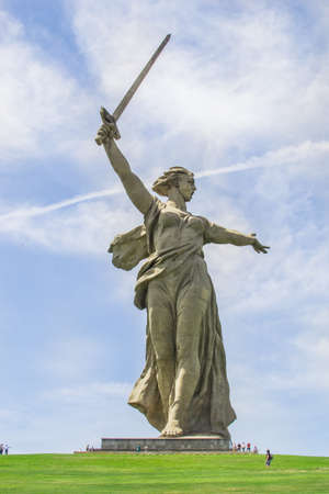 VOLGOGRAD, RUSSIA, 23 may, 2018 statue of mother Motherland Volgograd Mamaev Kurgan Sajtókép