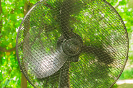 electric fan in the summer outdoors in the garden