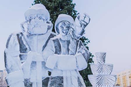 winter sculpture winter Russia winter city cold