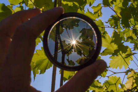 ND neutral lens filter for camera photographer 写真素材