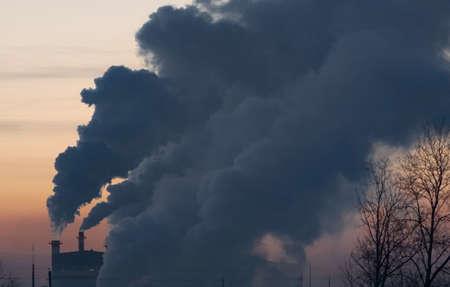 contaminación del aire la liberación de desechos sucios al medio
