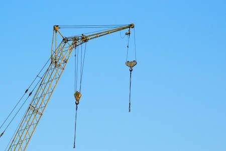 construction crane concept construction site under the mines space day
