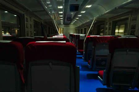 inside the train, the modern transport rail road