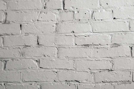 texture of old white brick wall