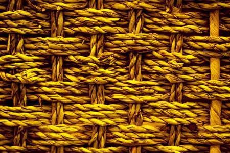 texture of wicker brown wood basket close-up macro