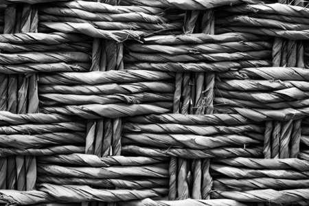 texture of yellow wicker basket closeup macrophotography background Фото со стока