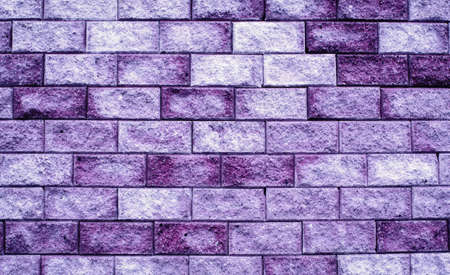purple brick wall white and purple bricks texture background Standard-Bild - 128825734