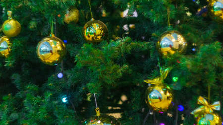 decorations for the new year defocus selective focus effect Banco de Imagens