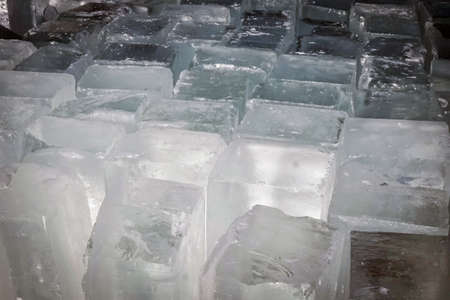 pieces of ice blocks of frozen water background