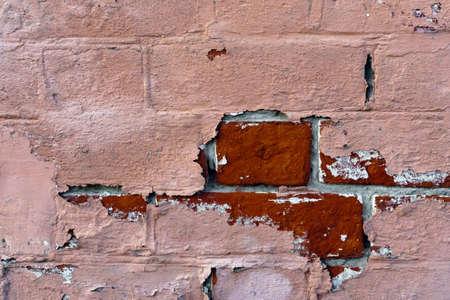 old retro brick wall texture background Banco de Imagens