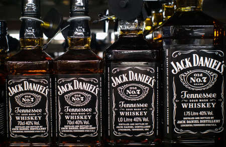 Tyumen, Russia-November 05, 2019: Jack Daniels, a brand of the best selling American whiskey in the world