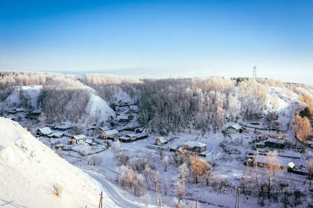 landscape of the winter old town of Tobolsk
