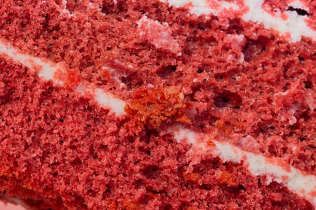 red velvet cake texture close-up - can use to display or montage on product 写真素材