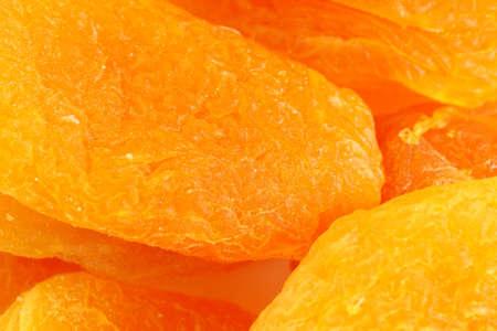 orange dried apricot fruit photo for advertising background, macro texture Foto de archivo