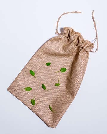 paper shopping bags, copy space. Eco shopping concept, zero waste.
