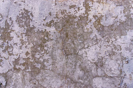 Texture of plaster on the wall. Gray background putty wall. destroyed wall background 写真素材