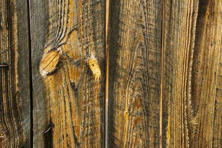 Background of brown old natural wood planks Dark aged empty rural room. logs inside vintage light warm interior 写真素材