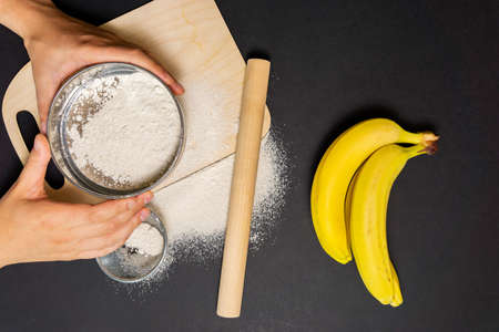 bananas flour, resistant flour, prebiotic food, gut health Musa paradisiaca