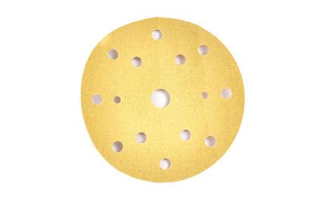 Round sandpaper abrasive sheet isolated on white background