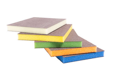 polishing sponge for car polishing. isolated on a white background 免版税图像
